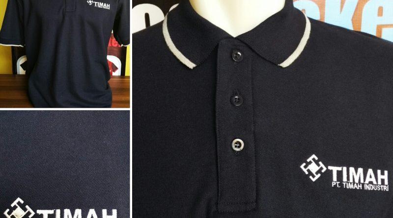 Pembuatan Kaos Kerah Bordir