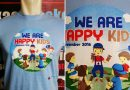Kaos Sablon Family Gathering We Are Happy Kids