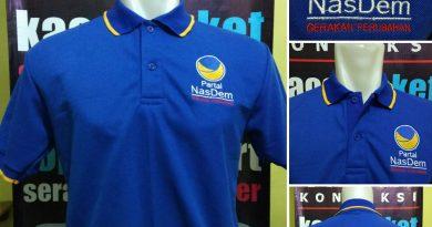 Pembuatan Kaos Polo Bordir Partai Nasdem