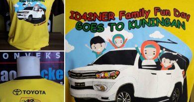 Pembuatan Kaos Sablon Plastisol Komunitas Fortuner Indonesia